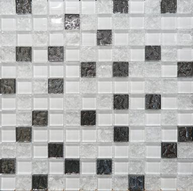 Mosaic Glass White мозаика коллекционная 300х300, AltaCera, Россия